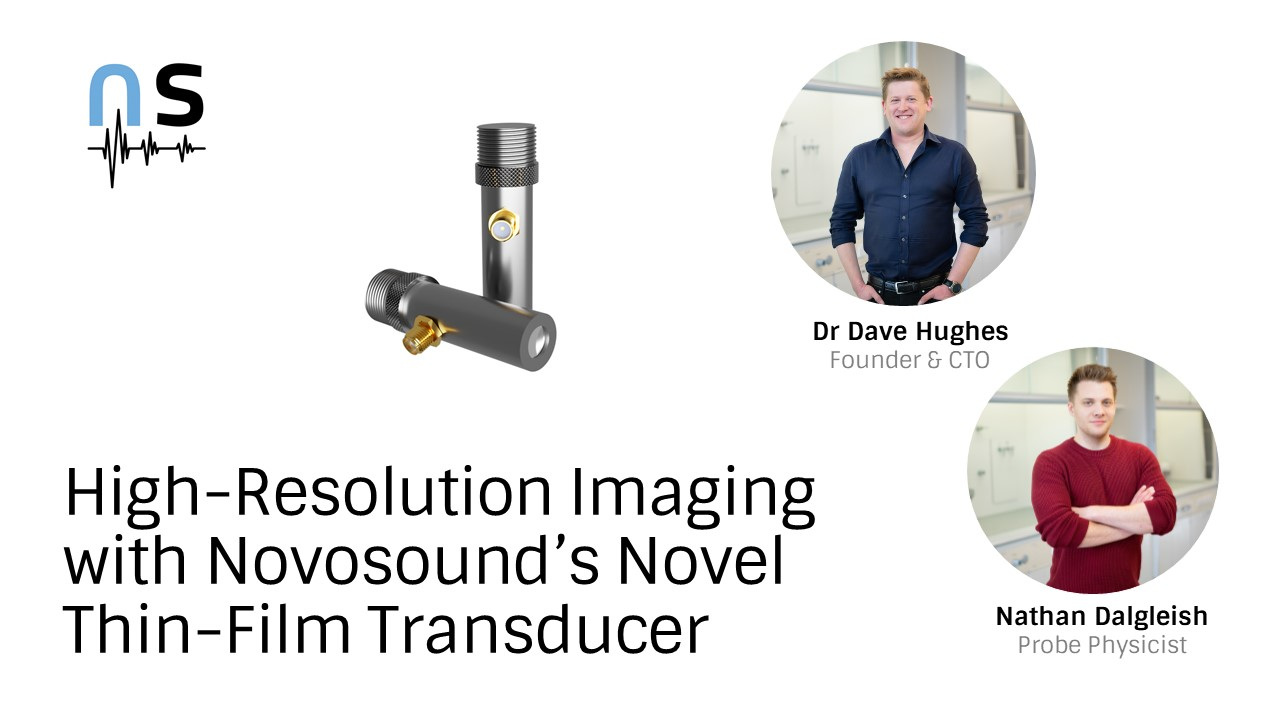 High-Resolution Ultrasound Imaging with Novosound's Novel Thin-Film Transducer